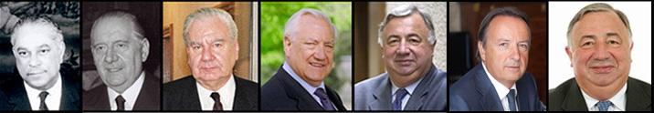 Les 6 Président du Sénat depuis 1958